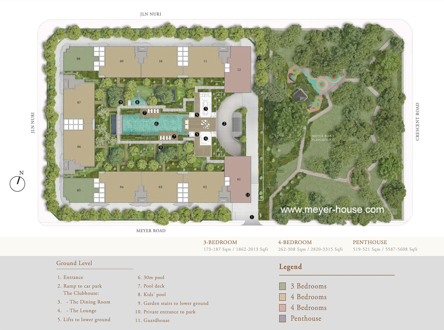 MeyerHouse Site Plan with legend